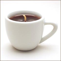 ホットコーヒーのローソク