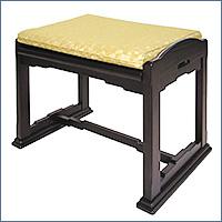 仏前スツール(仏壇用おまいり椅子)(木製黒檀調)
