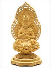 大日如来(真言宗)ミニ仏像 榧製