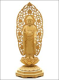 舟阿弥陀如来(浄土宗)ミニ仏像 榧製
