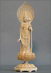 聖観世音菩薩像(木地仕上げ)