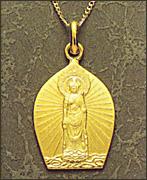 18金製お守り本尊ペンダント 聖観世音菩薩