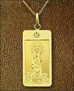 純金製お守り本尊ペンダント 聖観世音菩薩