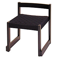 背低お詣り椅子 黒メッシュ WR350B(木製)