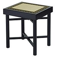 巾広折畳式組立椅子 黒塗(木製)