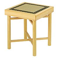 折畳式組立椅子 白木(木製)