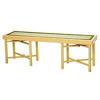 三人用折畳式組立椅子 白木(木製)