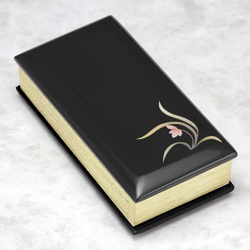 過去帳 黒塗り蒔絵入り(蘭)