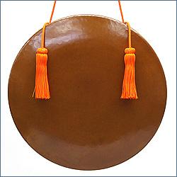 銅鑼 重目特上品 正絹朱色房紐付き