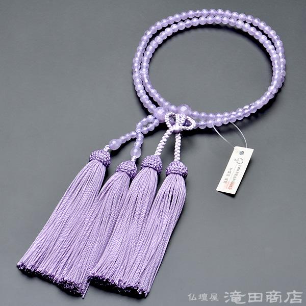 浄土真宗用本式数珠【女性用】 紫雲石 8寸