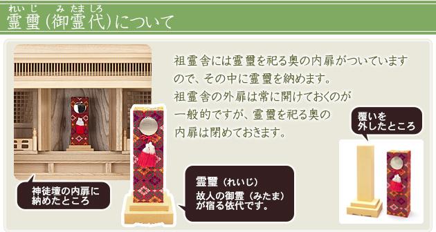 祖霊舎(神徒壇) 上置型20号(内欄間)