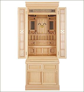 祖霊舎(神徒壇) 台付型50号(杜印)