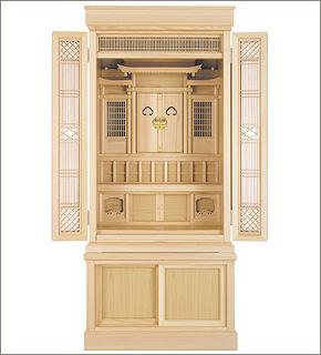 祖霊舎(神徒壇) 地袋付型 引き戸高台タイプ43号(杜印)