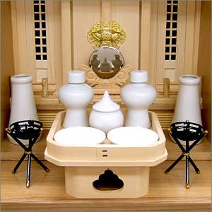 家具調神徒壇用神具セット 豆