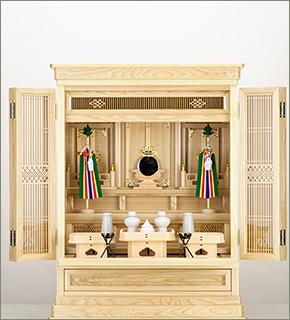 祖霊舎(神徒壇) 上置型28号 神具セット付き