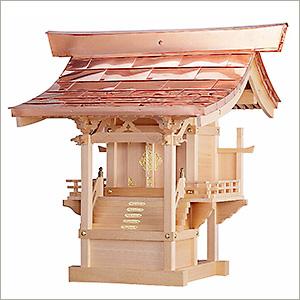 外宮 ひのき流れ屋根造り(木印) 1.2尺