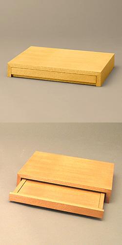 上置型スタイリッシュ仏壇台 タモ材