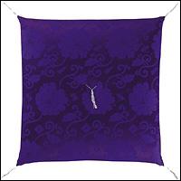 正絹緞子 紫