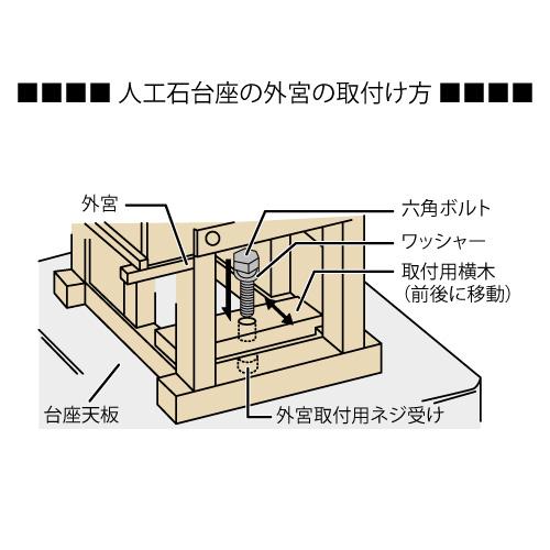 外宮用台座 人工石台座2段 (小)