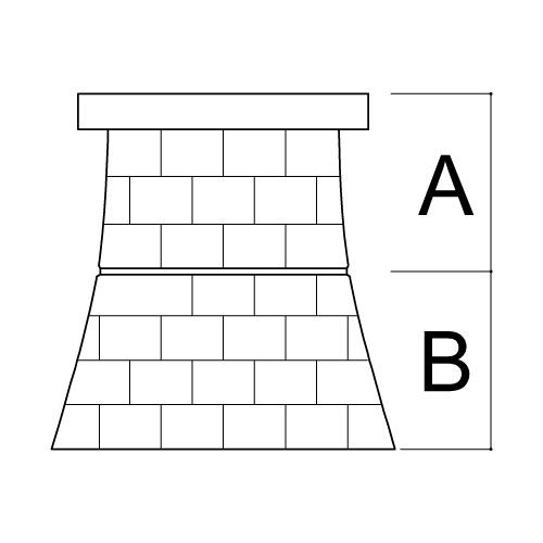 外宮用台座 人工石台座2段 (大)