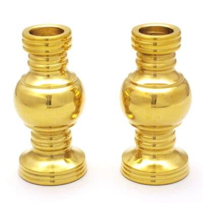東用華瓶 磨き(一対) 1.8寸 高さ5.6cm