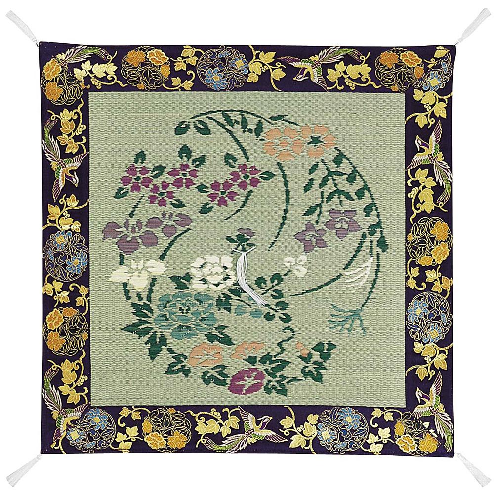 イグサ座布団 四季の花