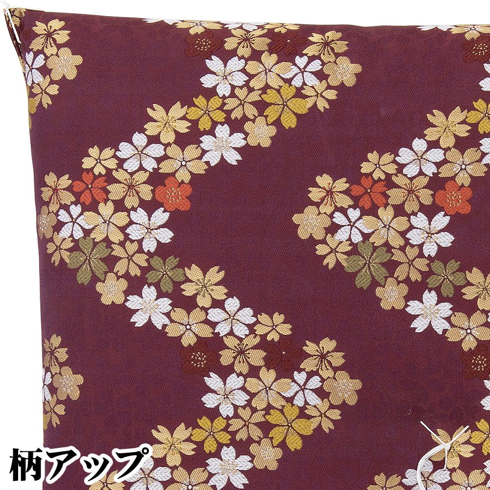 御前座布団 新錦 流れ桜 紫